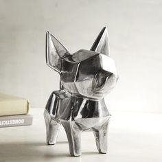 In art circles, Pablo Picasso is recognized as the inventor of cubism. Our sweet ceramic cubist Chihuahua may not be a Picasso, but it could be considered a modern work of art for your home—how avant-garde. Chihuahua Facts, Chihuahua Love, Dog Sculpture, Animal Sculptures, Paw Print Art, Installation Street Art, Balloon Dog, Dog Years, Dog Signs