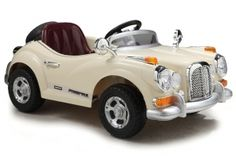 Lasten sähköauto Vintage, beige