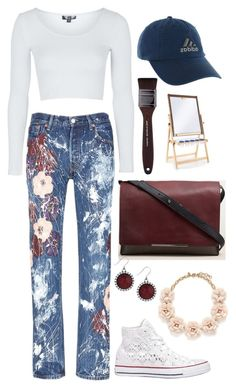 """""""Art Class"""" by mia-a-oviatt on Polyvore featuring Rialto Jean Project, Topshop, adidas, Kenneth Cole, Converse, MAKE UP FOR EVER, Guidecraft, J.Crew, Lucky Brand and women's clothing"""