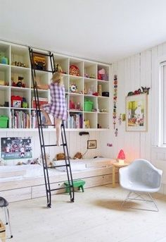 EXPEDIT hung high in a childrens' bedroom