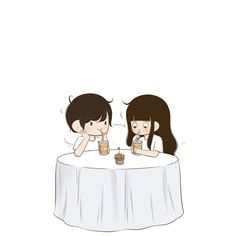Cartoon Love Photo, Love Cartoon Couple, Chibi Couple, Cute Couple Art, Anime Love Couple, Cute Couples, Couple Pics, Cute Love Pictures, Cute Love Gif