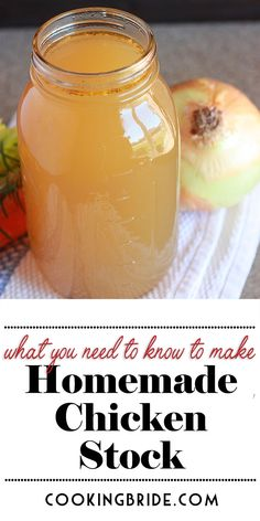 Don't waste your money on store brand chicken stock. This homemade chicken stock recipe is easy, delicious, and saves money. #chicken #chickenrecipes #souprecipes
