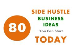 80 Side Hustle Business Ideas You Can Start Today by Nick Loper via slideshare