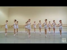 Vaganova Ballet Academy. First exercises on pointe. - YouTube