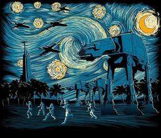 Star Wars on a Starry Night  
