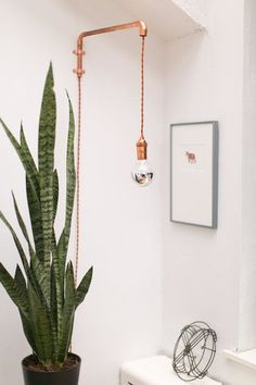 >>>>>>>> copper pipe wall sconce / lamp Jaclyn's Down-to-Earth Live/Work Apartment Luminaria Diy, Diy Luminaire, Luminaire Mural, Copper Lamps, Copper Pipes, Copper Wall Decor, Home Decor Copper, Copper Tubing, Brass Lamp