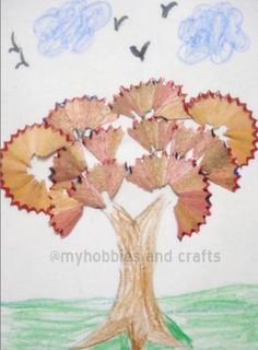 My Hobbies and Crafts: Tree with Pencil Shavings