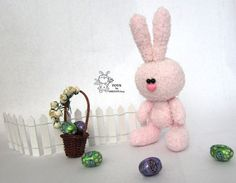 Easter Bunny  knitting pattern knitted round by simplytoys13