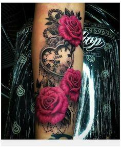 Feminine Tattoos, Girly Tattoos, Badass Tattoos, Pretty Tattoos, Beautiful Tattoos, Pink Rose Tattoos, Dope Tattoos For Women, Chest Tattoos For Women, Forarm Tattoos