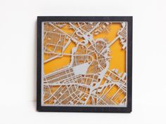 Laser Cut Images from Collected Edition Maps, Boston Map Art- grommet.com