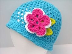 Crochet Summer Hat Beanie Any Size Colors with by PeanutsCrochet