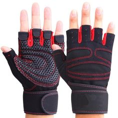 Cheap gloves weight lifting, Buy Quality gloves weight directly from China weight lifting Suppliers: Good Gym Fitness Gloves Power Luvas Fitness Academia Anti-skid Guantes Protective Crossfit Gym Gloves Weight Lifting for Sport Gym Gloves, Workout Gloves, Mens Gloves, Cycling Gloves, Lifting Workouts, Gym Workouts, Workout Gear, Gym Douce, Finger Gym