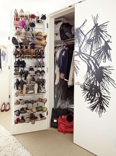 Door Hanging Closet Shoe Racks #shoerackcloset