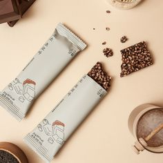 Food Packaging Design, Packaging Design Inspiration, Branding Design, Chocolate Packaging, Coffee Packaging, Healthy Snack Bars, Food Graphic Design, Food Photography Tips, Energy Bars