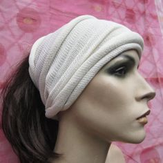 White Kundalini Yoga Head wrap yoga wear Summer festival head cover