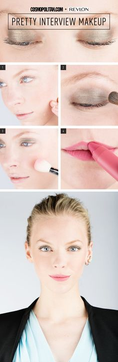 Pretty Interview Makeup #cosmopolitan #howto #pinklips