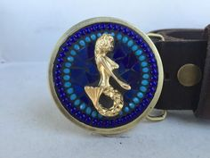 Mermaid Belt Buckle Mosaic Belt Buckle Belts for by camillaklein