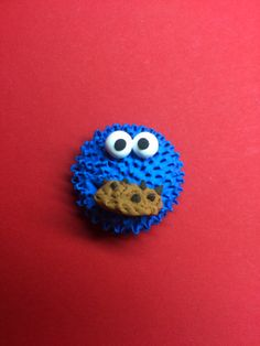 Jumping clay Cookie Monster by Silbidito. Monstruo de las galletas hecho por Silbidito.