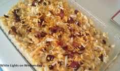 White Lights on Wednesday: Four-Cheese Bacon Mac 'n' Cheese (sub havarti for feta, dump American cheese altogether)