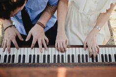 love this idea....a music themed engagement. Now if only someone I know who loves piano would get engaged to someone ELSE who loves piano...