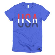BeYouTees® USA banded graphic tee