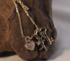 charm necklace #hearts www.secretgardengems.net