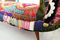 chairs by Bokja of Beirut - reupholster furniture using vintage Middle Eastern & Central Asian textiles - WOW!!