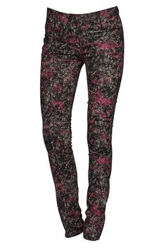 Pantalon skinny AMERICAN RETRO, imprimé contrastant - Mode BE