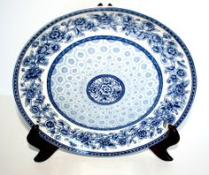 """222 FIFTH BLUE AND WHITE DYNASTY DESIGN E   11"""" PLATE"""