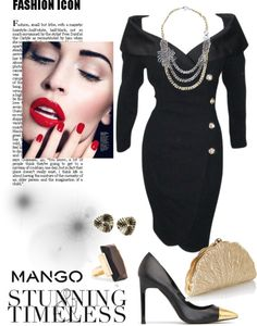 """Winter Aesthetic with Mango and That's Chic"" by muningrums on Polyvore"