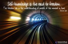 Self-knowledge is the road to freedom  ► www.sound-shift.com