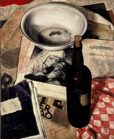 'Stilleven met Piëta' (Still-life with Piëta) (1932) by Dutch magic realist painter Dick Ket (1902-1940). via 50 watts