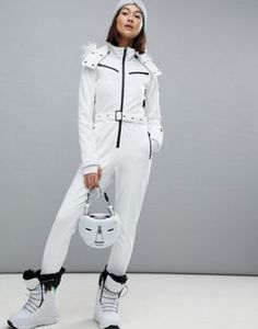 9ad4dab36 ASOS 4505 SKI Jumpsuit In All White Ski Jumpsuit, Snowboarding Outfit, Ski  And Snowboard