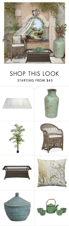 """""""Summer Breeze"""" by lindsayd78 ❤ liked on Polyvore featuring interior, interiors, interior design, home, home decor, interior decorating, Renwil, Nearly Natural and Ethan Allen"""