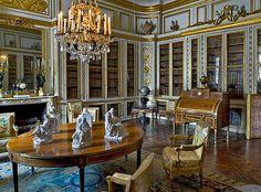 """Le château de Versailles """"bibliothèque du roi Louis XVI"""""""