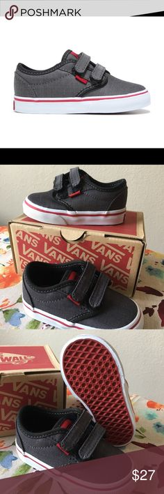 4896cc557d Vans Atwood V Brand new in box with original tags! Vans Atwood V (Textile)  Black Chili Pepper Size Toddler Vans Shoes Sneakers