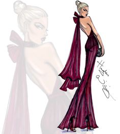 Hayden Williams Fashion Illustrations | 'Fine Wine' by Hayden Williams