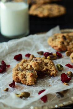 A guilt free cookie for the holidays, Pistachio Cranberry Oatmeal Cookies. Easy to make, healthy, and the flavors are phenomenal.   www.joyfulhealthyeats.com