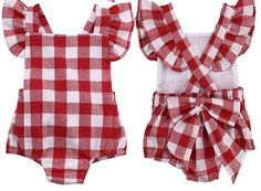 "- 2-piece set - Romper + matching headband - Classic plaid pattern - Sizes available up to 18 months Material: Cotton blend Gender: Baby Girls Closure Type: Covered Button Sleeve Length(cm): Sleeveless Collar: O-Neck Fit: Fits true to size, take your normal size Size Details: Size:3M Waist:40-52cm/15.7-20.5"" Length:32cm/12.6"" Height:60CM Size:6M Waist:44-56cm/17.3-22"" Length:34cm/13.4"" Height:70CM Size:12M Waist:48-60cm/18.9-23.6"" Length:36cm/14.2"" Height:80CM Size:18M…"
