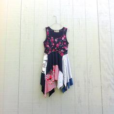 upcycled Dress / romantic Upcycled clothing / Patchwork Dress / Funky Tunic Dress / Eco Dress / Artsy Dress by CreoleSha by CreoleSha on Etsy
