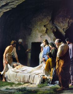 Carl Heinrich Bloch Painting - Burial Of Jesus Christ by Carl Heinrich Bloch Pictures Of Jesus Christ, Religious Pictures, Bible Pictures, Catholic Art, Religious Art, Jesus Burial, Crucifixion Of Jesus, Jesus Crucifixion Pictures, Religion Catolica