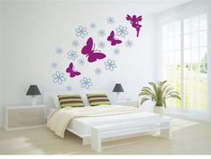 Add some color to your bedroom! 2 Colors, x - Butterfly Fairy, 2 Colours, Baby Room, Vinyl Decals, Wall Art, Bedroom, Color, Home Decor, Decoration Home