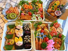 satomin's dish photo 運動会お弁当 | http://snapdish.co #SnapDish #BENTO世界グランプリ2016 #運動会 #キャラ弁 #お弁当 #お昼ご飯