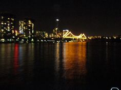 Brisbane view from a boat on the Brisbane River.