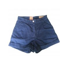 Pre-owned LEVI'S MADE & CRAFTED Blue Cotton Shorts (225 BRL) ❤ liked on Polyvore featuring shorts, bottoms, clothing - shorts, pants, levi's made & crafted, blue cotton shorts and blue shorts