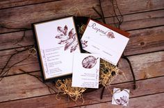 Fall Wedding Invitation  Rustic Wedding Invite  by NINE7OHDESIGNS, $150.00