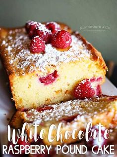 Raspberry White Chocolate Pound Cake is a delicious & easy pound cake recipe packed full of plump raspberries. Perfect for any holiday, celebration or event.