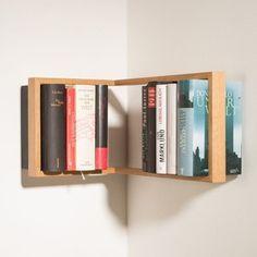 Rohová polica na knihy das kleine b b1, výška 22 cm
