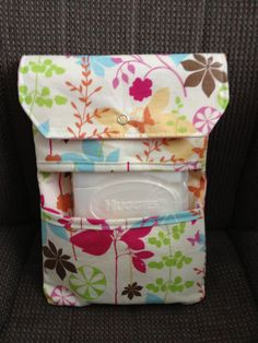 Easy Wipe Diaper Clutch Spring flower butterfly Come with Huggies Refillable Wipe Case Ready To Ship Other Styles Check My Shop. $14.99, via Etsy.