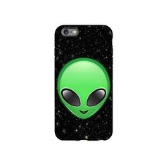 alien emojis iPhone Plus 6 Tough Case (£24) ❤ liked on Polyvore featuring accessories, tech accessories, emoji, galaxies and phone case